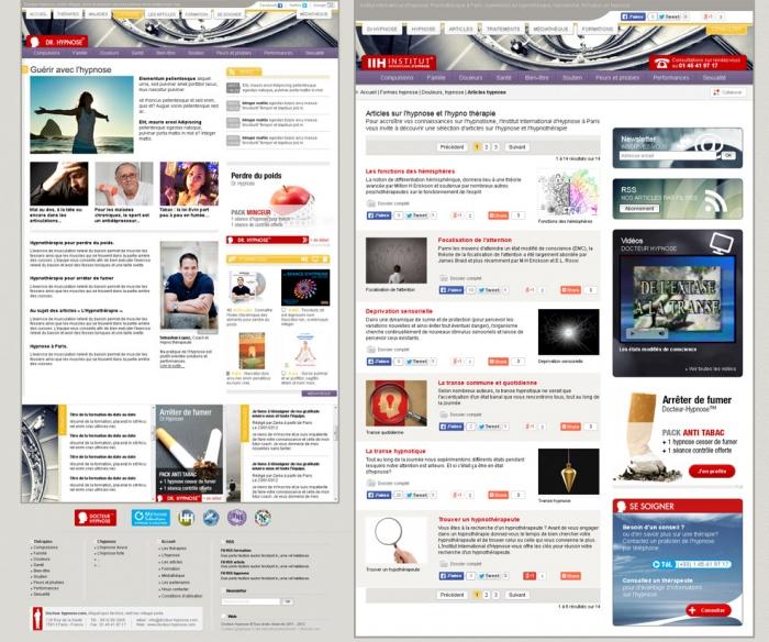 Création de site internet sur l'hypnose