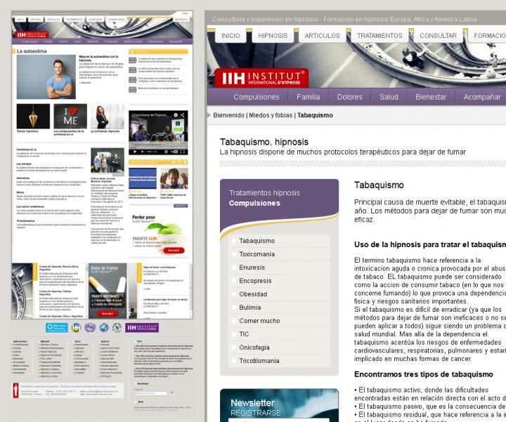 Création d'un site internet sur l'hypnose