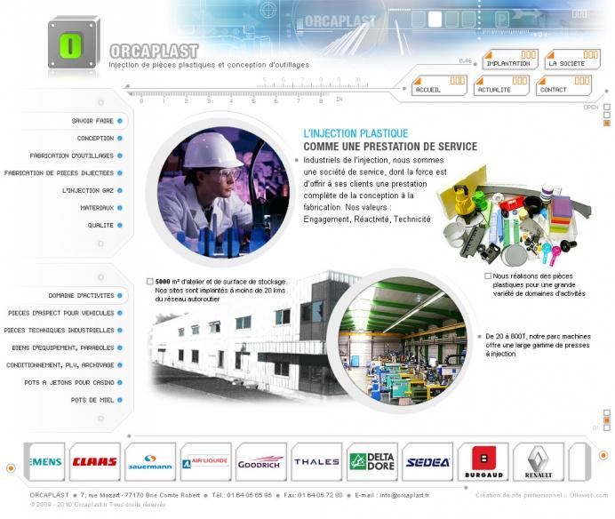 Création de site internet sur l'injection de pièce en plastique