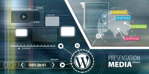Cr�ation de site de pr�sentation m�dia avec WordPress.