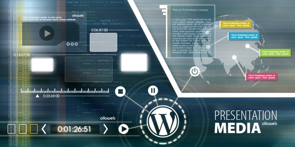 Création de site de présentation média avec WordPress.
