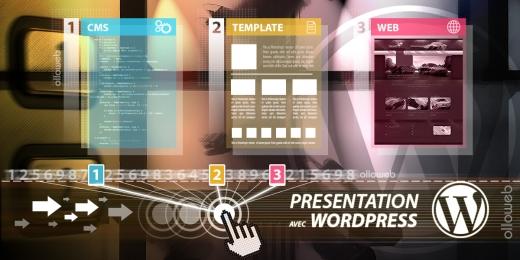Cr�ation de site web de pr�sentation WordPress