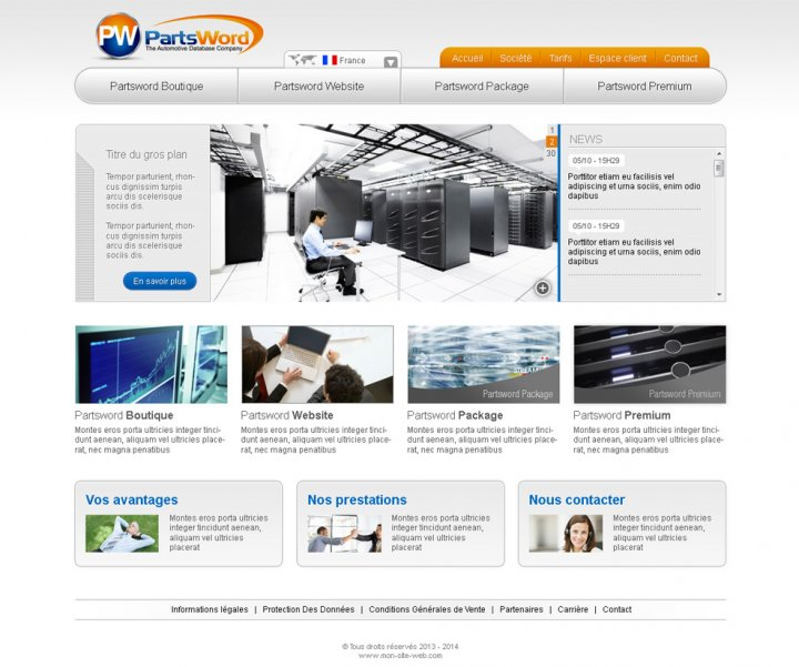 Création de site internet de présentation