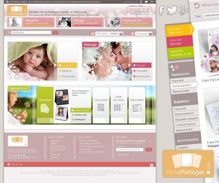 Graphisme du site e-commerce