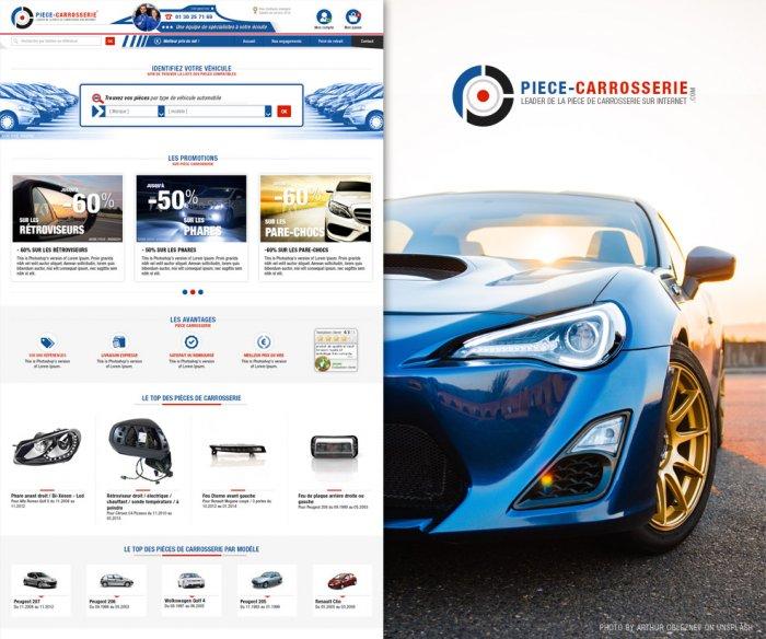 Refonte de site e-commerce de vente de pièce de carrosserie automobile