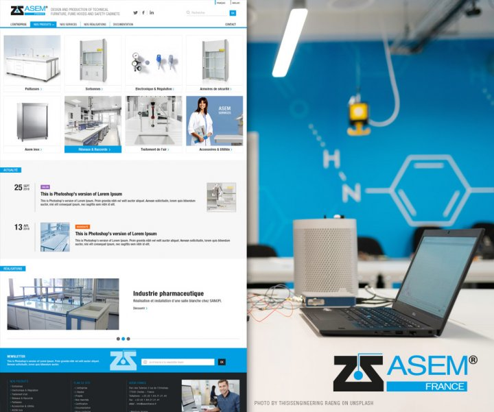 Refonte d'un site internet pour un fabricant de matériels de laboratoire