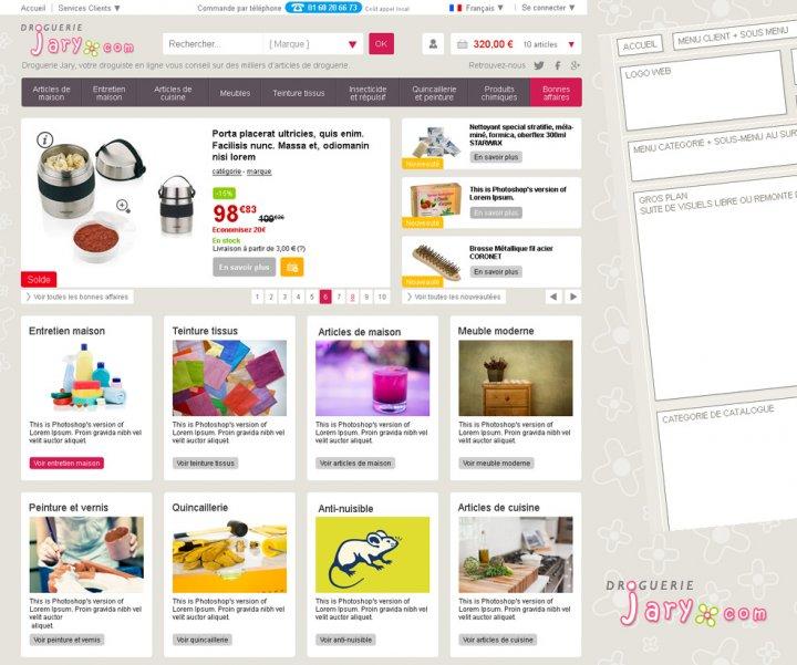 Refonte de site e-commerce de droguerie