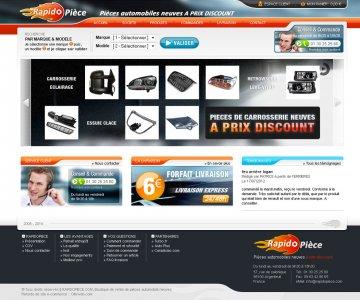 Refonte de site e-commerce de pièces auto.