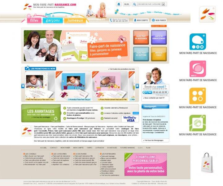 Refonte du site Mon-faire-part-naissance.com