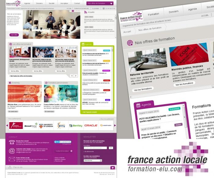 Refonte de site internet sur la formation des élus locaux.