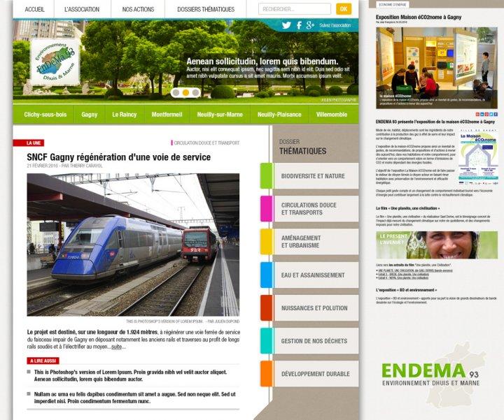 Refonte du site internet d'information pour l'association ENDEMA93