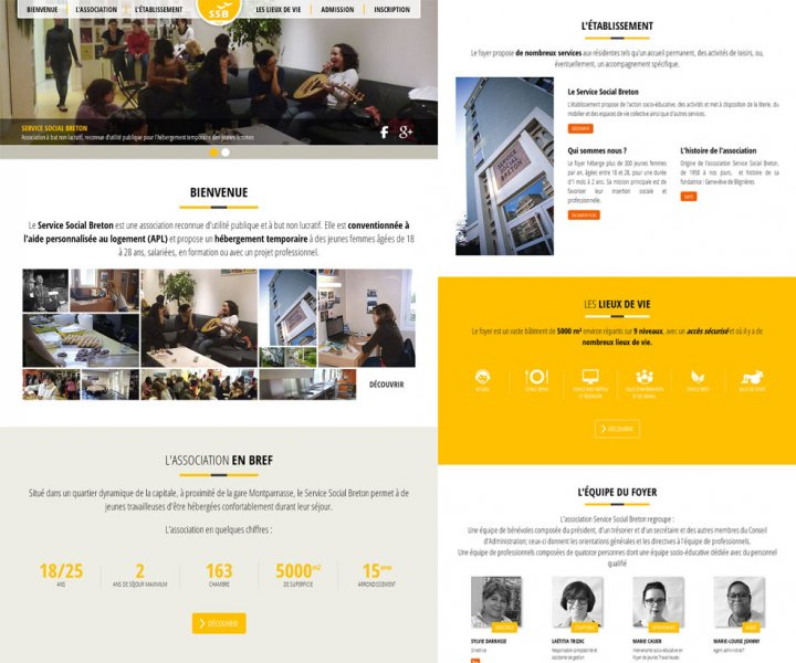 Refonte de site internet pour l'association Service Social Breton