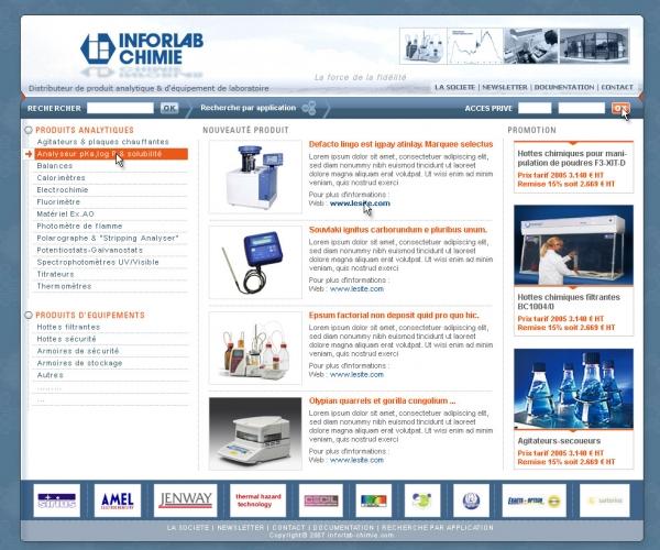Refonte de site internet de chimie et biologie