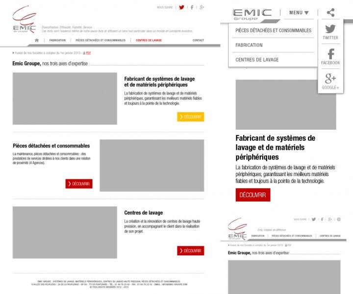 Refonte du site internet du groupe Emic
