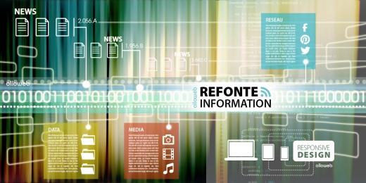 Refonte de site d'information