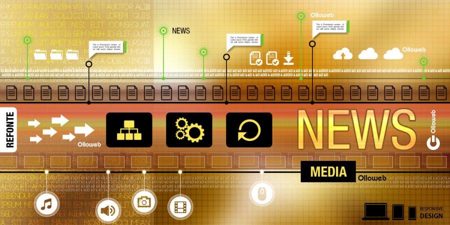 Refonte de site d'information média.