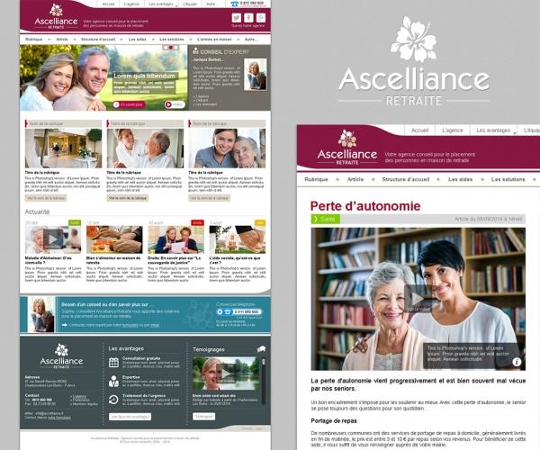 Refonte du site internet de présentation Ascelliance Retraite