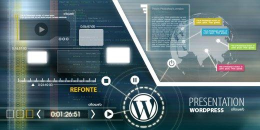 Refonte de site de présentation avec WordPress.