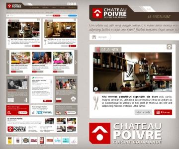 Refonte du site internet du restaurant Le Chateau Poivre