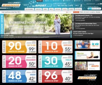 Création d'un site internet Coach Sportif pour sénior.