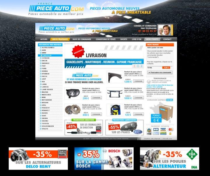 Création de site e-commerce de pieces automobile