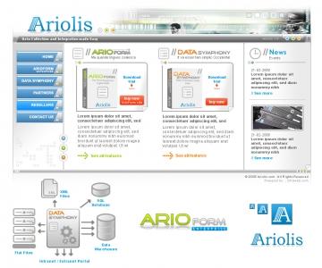 Création du site internet de développement d'applications : Ariolis.