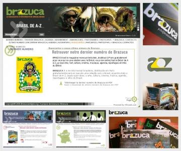 Création du site internet du magazine Brazuca
