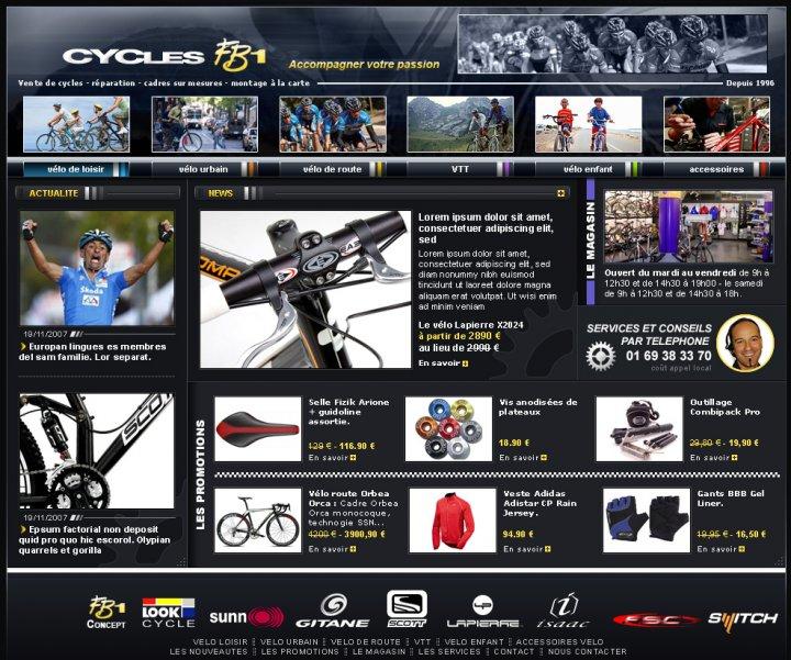 Création de site internet de cycles